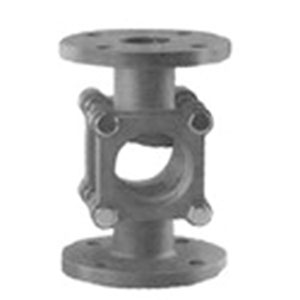 SIGHT GLASS/ CAST IRON WITH DOUBLE GLASS INSPECTION WINDOW/ FLANGED PN16 -0