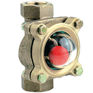 SIGHT GLASS/ BRONZE WITH PIREX DOME/ SCREWED BSP FEMALE -0