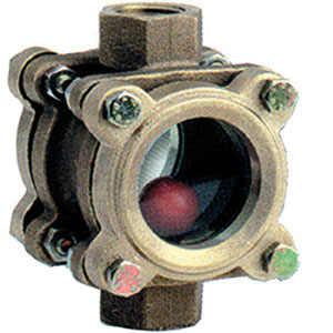 SIGHT GLASS/ BRONZE WITH DOUBLE GLASS INSPECTION WINDOW/ SCREWED BSP FEMALE -0