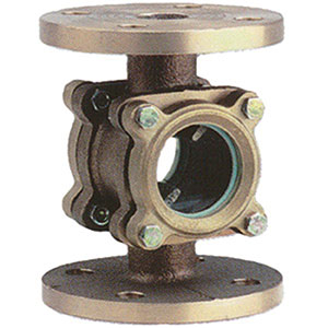 SIGHT GLASS/ BRONZE WITH DOUBLE GLASS INSPECTION WINDOW/ FLANGED PN16 -0