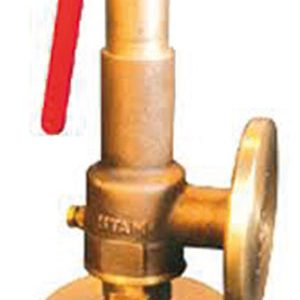 SPRING SAFETY RELIEF/ BRASS/BRONZE/ FLANGED PN16, OTHER DRILLINGS AVAILABLE -0