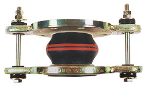 TIED RUBBER EXPANSION JOINT/ NITRILE WITH ZINC PLATED CARBON STEEL OVAL FALNGES/ FLANGED PN10/16-0