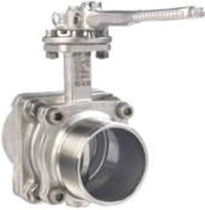 TANKER BUTTERFLY/ STAINLESS STEEL/ WELD INLET, BSP OUTLET -0