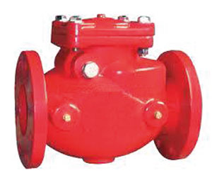 SWING CHECK VALVE, RESILIENT SEATED / DUCTILE IRON FUSION BONDED EPOXY COATED INTERIOR AND EXTERIOR / FLANGED PN10/16, ANSI 125-0