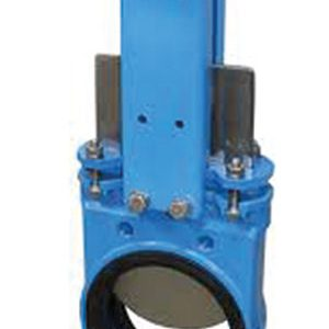 KNIFE GATE, UNDIDIRECTIONAL/ CAST IRON, STAINLESS STEEL BLADE/ TO SUIT PN10/16 FLANGES/ HANDWHEEL-0