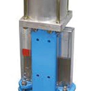 KNIFE GATE, UNIDIRECTIONAL/ CAST IRON, STAINLESS STEEL BLADE/ TO SUIT PN10/16 FLANGES/ DOUBLE ACTING PNEUMATIC ACTUATOR-0
