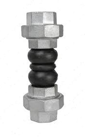 RUBBER EXPANSION JOINT/ NITRILE WITH CAST IRON THREADED ADAPTOR/ SCREWED BSP FEMALE-0
