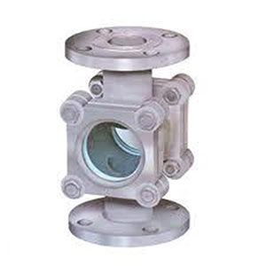 SIGHT GLASS/ CAST STEEL WITH DOUBLE GLASS INSPECTION WINDOW/ FLANGED PN16 -0