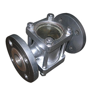SIGHT GLASS/ STAINLESS STEEL WITH DOUBLE GLASS INSPECTION WINDOW/ FLANGED PN16 -0