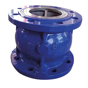 DISC CHECK/ CAST IRON EPOXY COATED/ FLANGED PN16-0
