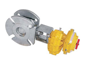 PNEUMATIC ACTUATED BALL/ STAINLESS STEEL/ PN16/40, INLET, SLOTTED OUTLET TO SUIT ANSI 150, TABLE H, PN16/40-0
