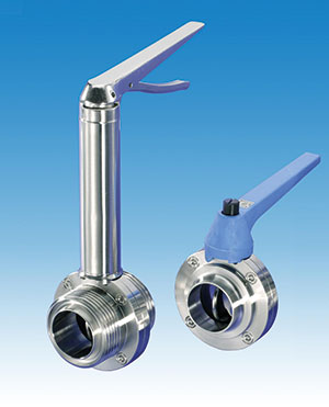 BUTTERFLY, HYGIENIC/ STAINLESS STEEL/ RJT, IDF,ILC/ PLASTIC LEVER/ VITON/ LEVER -0