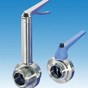 BUTTERFLY, HYGIENIC/ STAINLESS STEEL/ RJT, IDF, ILC/ STAINLESS STEEL MULTI STOP LEVER / VITON / SS LEVER -0
