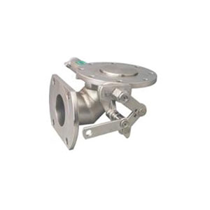 """90 DEG LEVER FOOTVALVE/ STAINLESS STEEL/ INLET FLANGED 3 1/2"""" ANSI 150, OUTLET FLANGED 3"""" PN10/40 -0"""