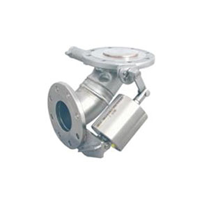 """90 DEG LEVER FOOTVALVE/ STAINLESS STEEL/ INLET FLANGED 5"""" PN16 OUTLET FLANGED 4"""" PN10/16/40 -0"""