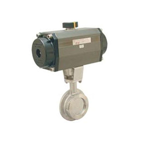 PNEUMATIC ACTUATED BUTTERFLY/ STAINLESS STEEL/ CLAMPED-0