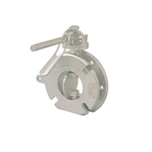 BUTTERFLY/ STAINLESS STEEL/ PN16/40 INLET, SLOTTED OUTLET TO SUIT ANSI 150, TABLE H, PN16/40 -0