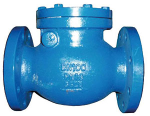 SWING CHECK/ CAST IRON EPOXY COATED/ FLANGED PN16-0