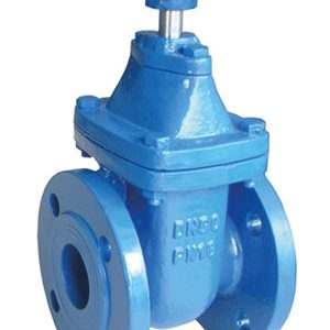 GATE DIN 3352/ DUCTILE IRON, EPOXY COATED/ FLANGED PN16-0