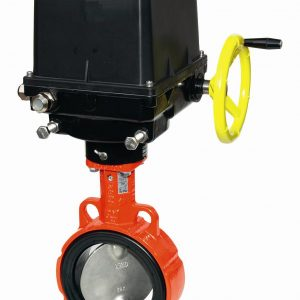 ELECTRICALLY ACTUATED GGG40 EUROPEAN WAFER BUTTERFLY VALVE EPDM LINER-0