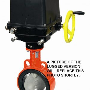 ELECTRICALLY ACTUATED GGG40 LLOYDS APPROVED EUROPEAN LUGGED PN16 BUTTERFLY VALVE-0