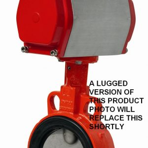 PNEUMATIC SPRING RETURN ACTUATED GGG40 LLOYDS APPROVED EUROPEAN LUGGED PN16 BUTTERFLY VALVE-0