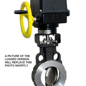 ELECTRICALLY ACTUATED WCB LLOYDS APPROVED EUROPEAN LUGGED ASA150 HIGH PERFORMANCE BUTTERFLY VALVE-0