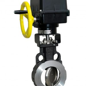 ELECTRICALLY ACTUATED WCB LLOYDS APPROVED EUROPEAN WAFER MULTI FLANGED HIGH PERFORMANCE BUTTERFLY VALVE-0