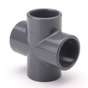 EFFAST PVCU SOLVENT CEMENT FITTINGS CROSS 90 DEGREES PLAIN RFACXA-0