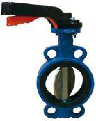 VS TECH WAFER BUTTERFLY VALVE, DUCTILE IRON BODY, STAINLESS STEEL DISK, EPDM LINER, WRAS APPROVED, LEVER OPERATED-0