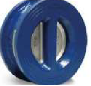 VS TECH WAFER DUAL PLATE CHECK VALVE. DUCTILE IRON BODY, STAINLESS STEEL DISK, NBR LINER.-0
